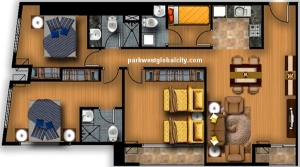 Park West 3-bedroom with 106 sq.m. layout