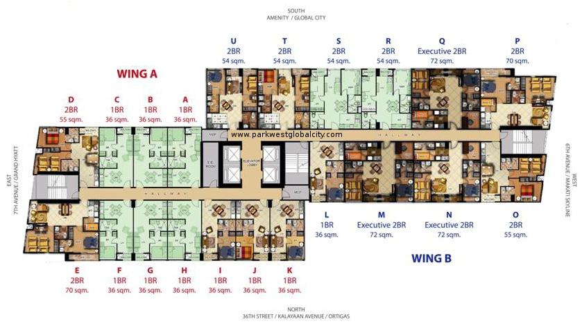 Floor Plans Park West Global City