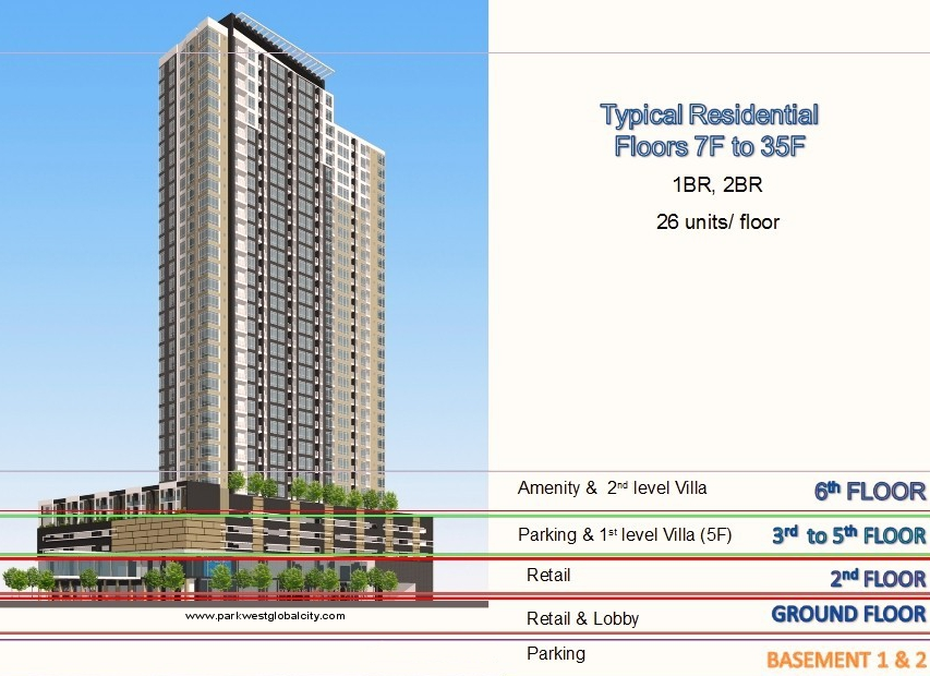 Floor plans park west at grand hyatt for Retail apartment plans
