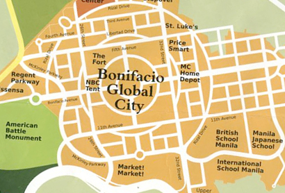 Fort Bonifacio Global City Map