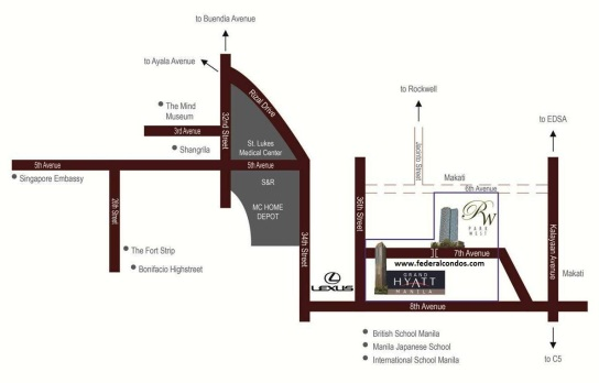 Park West is located along 7th Avenue in The Bonifacio Global City
