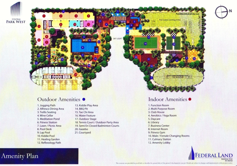 Amenity Plan of Central Park West