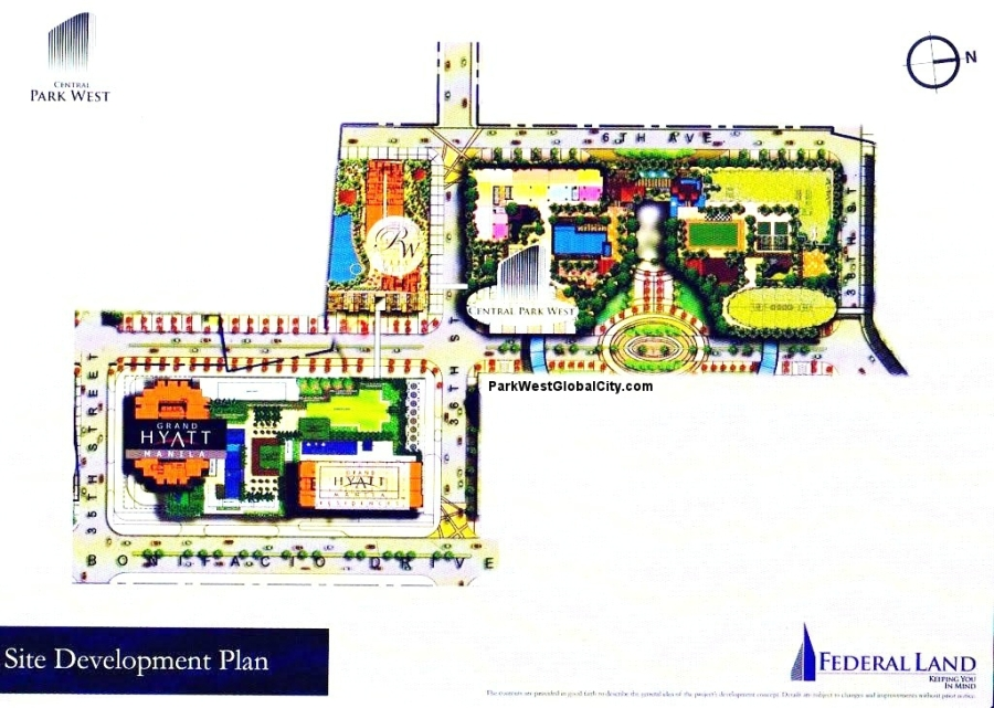 Site Development Plan of Grand Hyatt Community